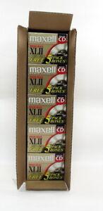 Maxell XLII High Bias Cassette Tape Complete Case 10 Five Bonus Packs