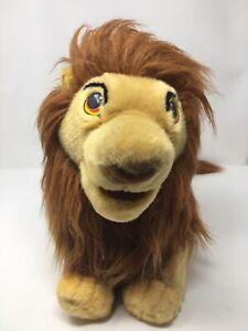 """Vintage Lion King Plush Simba Mufasa Puppet Plush 22"""" Large  Walt Disney"""