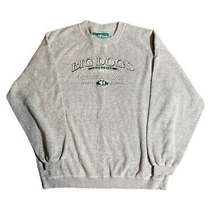 Vintage Big Dogs Est 1983 Genuine Attitude XL Sweatshirt Crew L/S Chest 56 in