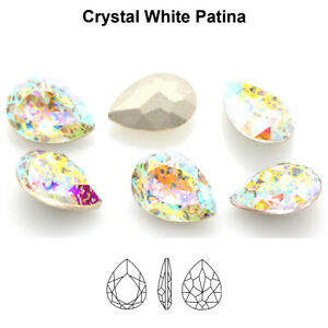 Genuine AURORA A4320 Pear Drop Fancy Stones Crystals * Different Colors & Sizes