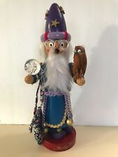 "❤️STEINBACH NUTCRACKER  MERLIN THE MAGICIAN SMOKER 12"" ~ Signed ~ Retired 1993❤️"