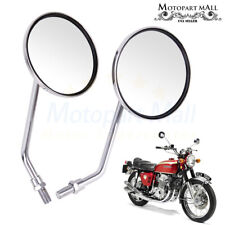 Motorcycle Scooter Rearview Side Mirror For Honda CB 350 450 550 600 650 750 90