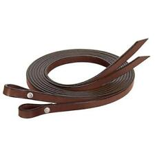 WEAVER WESTERN SADDLE HORSE 7' GENUINE LEATHER SPLIT REINS DARK OIL