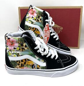 VANS Sk8-Hi Tropical Animal Check Multi Women's Size Sneakers VN0A4U3C2FB