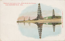Bakersfield CA * Kern River Oil Fields Derricks & Lake of Oil ca. 1906 Rieder