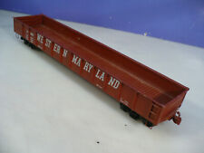 BRASS O Max Gray Western Maryland Low Side Drop-End Gondola C/P NO RESERVE