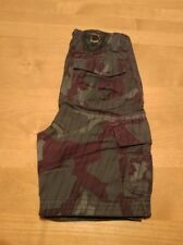 Fox Racing Boys Cargo Shorts Gray Camo Size Waist 24 100% Cotton
