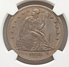 1859 Seated Dollar NGC AU Details Better Date Best Price on eBay Nice Type Coin