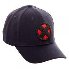 MARVEL COMICS X-MEN LOGO NAVY FLEX FIT SUBLIMATED UNDER BILL STRETCH HAT CAP NWT