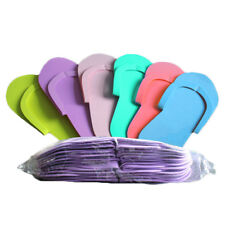 Fashion 12 Pairs Disposable Foam Slippers High Quality Foam Pedicure Slippp JD
