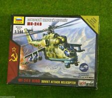 Zvezda MI-24V posteriori attacco sovietico Elicottero GUERRA CALDA SCALA 1/144 7403