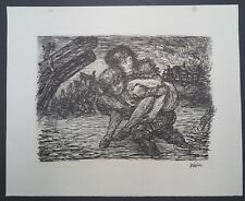 Alfred Kubin Rettung Lithographie 1944