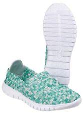 40,5 Scarpe da donna verde Piatto (Meno di 1,3 cm)