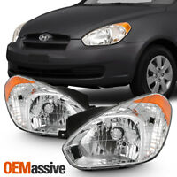 Fits 2006-2011 Accent Sedan Hatchback Headlights Replacement 06 07 08 09 10 11