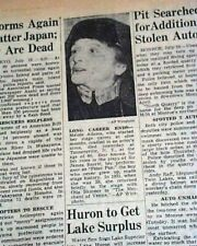 MAUDE ADAMS Broadway J. M. Barrie's PETER PAN Actress DEATH 1953 Old Newspaper