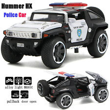 1:32 Hummer HX Police Car Alloy Diecast car Model Toy Gift Sound&Light Black Red