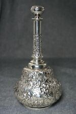 TIFFANY Sterling Silver PERFUME / COLOGNE with STOPPER / BARBER BOTTLE 7 1/4""