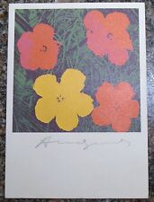 ANDY WARHOL RARE SIGNED 1964 Flowers Card