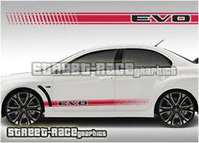 Mitsubishi Side Racing Stripes 010 Autocollants Decals Graphics Vinyl Evo Evolution