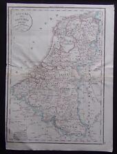 § carte Royaume des Pays Bas - Félix Delamarche 1829