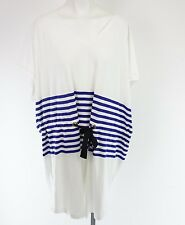 SONIA RYKIEL Jersey Kleid Gr XL 42 Blau Creme Gestreift Maritim NP 119,- NEU