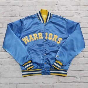 Vintage 90s Golden State Warriors Satin Jacket by Starter Size M