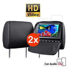 "XTRONS 9"" Car Headrest DVD Player Monitor Games Kids USB/SD HD Twin Dual Screen"