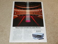 Sony CDP-101 CD Ad, 1st One ever! 1983, Article, CLASSIC Advertisement!