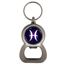 Pisces Zodiac Glyph Bottle Opener Keyring Piscean horoscope astrology BNIB
