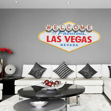 Real Look LARGE Las Vegas Sign Statement Full Colour Wall Sticker Decal