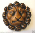 Lion Mask Reproduction Medieval Oak Ecclesiastic Carving Unique Hand Made Gift