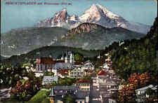 Berchtesdaden villaggio vista parziale PANORAMA ALPI MONTAGNE AK 1915 andate Baviera