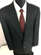 Vtg Bartolini Men VLV Jacket Black Red CHECK Sport Coat SILK SHARKSKIN Blazer 40