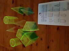 Plastic Fillable Counting & Math 3D Shapes, Clear Geometric Solids