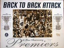 CARLTON AFL BACK TO BACK ATTACK PREMIERSHIP 1981-1982 LIMITED EDITION POSTER