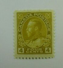 1922 Canada SC #110  KING GEORGE V  MH  F+ Four cent stamp