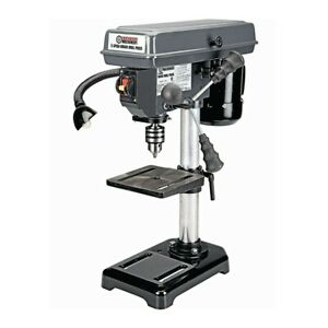 Bench Top Mini Drill Press 5 Speed w/ Light for Wood or Metal Hobby Table Top