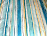 POTTERY BARN Striped Floral ABSTRACT KING Bedding DUVET COVER Striped EURO SHAM