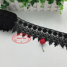 1 Yard, Crochet Lace Trim Ribbon Wedding Applique Dress Sewing Decor Craft FL57