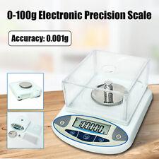 100 x 0.001g 1mg Electronic Digital Lab Scale Precision Analytical Balance Set