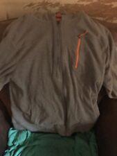 Eddie Bauer Lg Hooded sweatshirt Grey , orange accents light weight
