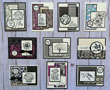 10 Handmade Black Ivory All Occasion greeting cards envelopes Stampin' Up! +more