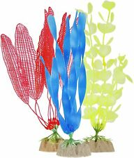 TETRA GLOWFISH GLOW PLANT VALUE 3 PACK ORNAMENT GLO EFFECT. IN USA