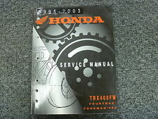 1995 1996 1997 Honda TRX400FW Fourtrax Foreman ATV Shop Service Repair Manual