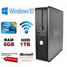 FAST DELL QUAD CORE PC COMPUTER DESKTOP TOWER WINDOWS 10 WIFI 8GB RAM 1000GB HDD