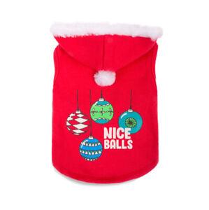 Simply Dog Holiday Christmas Pet Apparel | Nice Balls | Santa Hat | Red| XL NWT