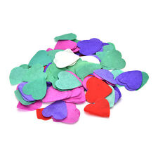 1000 Colorful Love Heart Biodegradable Confetti Table Wedding Party Decor YNZT