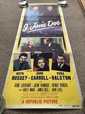 I, Jane Doe (1948) Original US Insert Cinema Poster