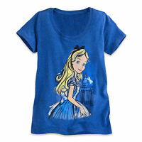 Disney Store Alice in Wonderland Sketch Art Womens T Shirt Tee Size S M XL NWT