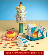 SEWING PATTERN! MAKE PINCUSHIONS! MANNEQUIN~BEE~FLOWER~PURSE!SEWING ACCESSORIES!